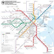 Boston Metro Map Boston Subway Map Overlay Kemerovo Me