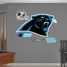 amazon com nfl carolina panthers logo wall graphics sports fan