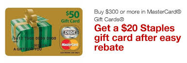 mastercard e gift card staples deal alert get a 15 staples gift card when you purchase
