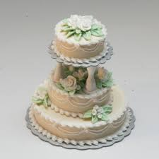 3 tier wedding cake 3 tier ecru wedding cake stewart dollhouse creations