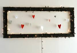 Red Heart Fairy Lights by Diy Heart U0026 Fairy Light Frame Clouds Of Colour