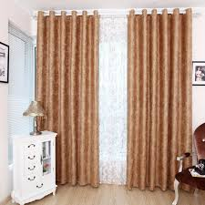 Brown Blackout Curtains Floral Beautiful Energy Saving Light Brown Blackout Curtains