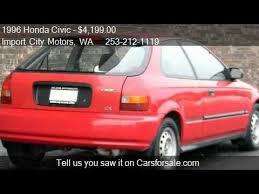 1996 honda civic hatchback cx 1996 honda civic cx hatchback for sale in tacoma wa 98409 a