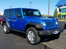 carmax jeep wrangler unlimited blue jeep wrangler for sale in des moines ia carmax
