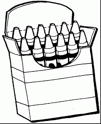 terrific crayons clip art black and white coloring pages with