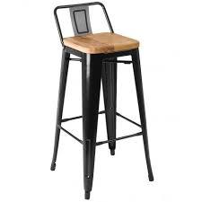 chaise m tal industriel tabouret de bar bois et metal chaise industriel 7 en m tal noir