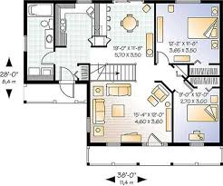 small farmhouse designs 920 sq ft family room kitchen with breakfast area 2 bedrooms