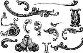 free vectors engraved ornaments vector misc free vector free