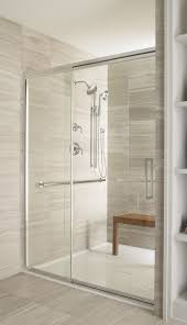 a bathroom with a view frameless shower shower doors and doors