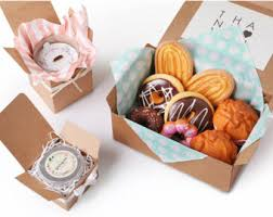 cookie box favors kraft boxes etsy
