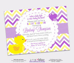 rubber ducky baby shower invitation bow printable