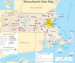 State Capitol Map by Massachusetts State Map A Large Detailed Map Of Massachusetts