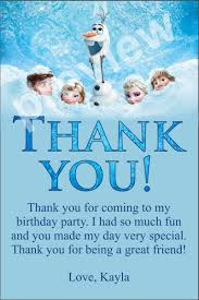 frozen thank you tags free frozen personalized birthday party