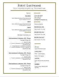 word resume templates free cv templates 275 to 281 free cv template dot org