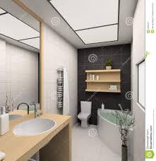 Interior Bathroom 3d Render Modern Interior Of Bathroom Stock Images Image 6227294