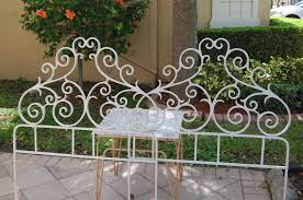 bedroom marvelous pair of vintage cast iron twin headboards