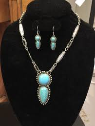 turquoise necklace set images Turquoise and antique silver necklace set 3 rusty nails shop jpg