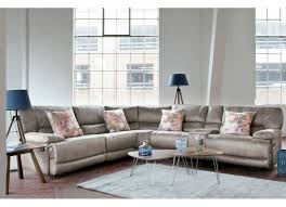 couch taupe large fabric reclining corner sofa baxter