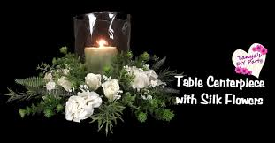 table centerpiece with silk flowers tutorial youtube