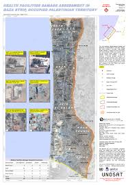 Map Of The Strip Impact Of The 2014 Conflict In The Gaza Strip U2013 Unosat Satellite