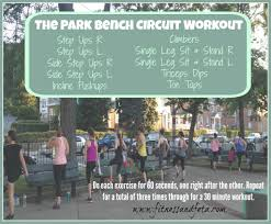 bench routines park bench circuit workout achieve with athena