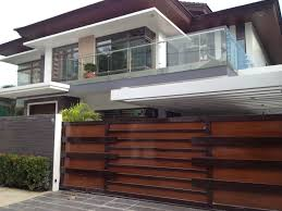 boundary wall gate design modern wood fence wooden photo gallery