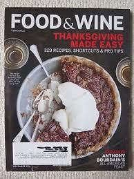 food wine magazine november 2016 thanksgiving made easy ebay