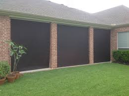 Exterior Shades For Patios Houston Outdoor Shades Roll Up Or Down Shades Roll Away Shade