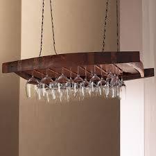 Modern Wine Glasses by Vintage Oak Hanging Wine Glass Rack Wine Enthusiast