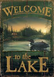 Welcome Flag Loon Lake Welcome Flag Mad About Gardening