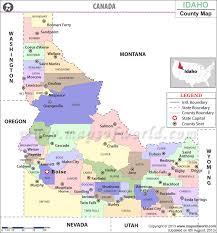 map of idaho cities idaho county map idaho counties