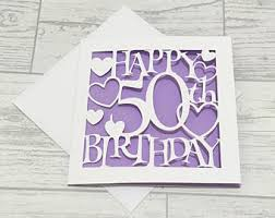 50th birthday card etsy