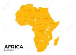 africa map all countries africa continent location modern detailed vector map all world