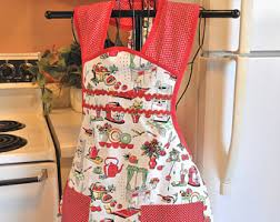 Apron Designs And Kitchen Apron Styles Fashioned Apron Etsy