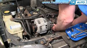 how to install replace alternator cavalier sunfire 2 2l 95 05