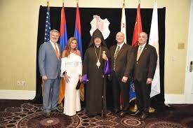 prelate attends homenetmen victory banquet western prelacy