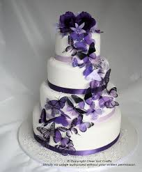 20 mixed purple butterflies great for wedding cakes wedding cake