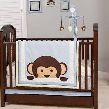 Boy Monkey Crib Bedding Baby Cot Bedding Set Murah Tokida For