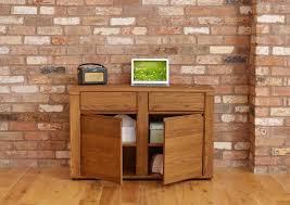 Computer Desk Hidden by Benson Dark Oak Furniture Hidden Home Office Pc Computer Desk