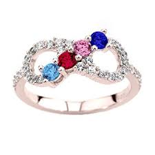 mothers infinity ring nana infinity mothers ring with 1 to 6 simulated