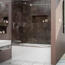 Trackless Bathtub Doors Schon Judy 60 In X 59 In Semi Framed Sliding Trackless Tub And