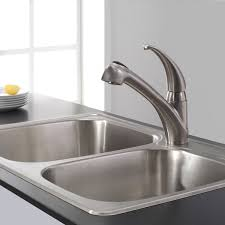 kitchen faucets overstock kraus single handle solid stainless steel kitchen faucet with pull