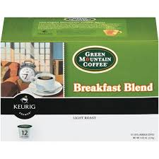 light roast k cups green mountain coffee breakfast blend light roast k cups 12 ct
