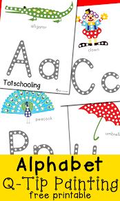 printable alphabet mat alphabet q tip painting printables totschooling toddler