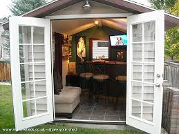 Backyard Shed Ideas Pub Sheds Quickly Becoming Trend In Backyard Entertainment