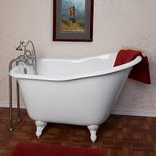 bathroom 5 feet clawfoot bathtubs with black exterior for