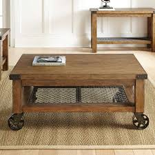 Rustic Coffee Table On Wheels 20 Best Ideas Of Rustic Coffee Table With Wheels