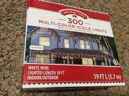 time 300 count icicle lights multicolor white