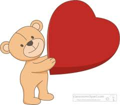 valentines day teddy valentines day clipart valentines day holding heart balloon
