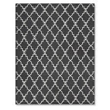 6x9 Outdoor Rug Moroccan Gate Indoor Outdoor Rug Black Williams Sonoma